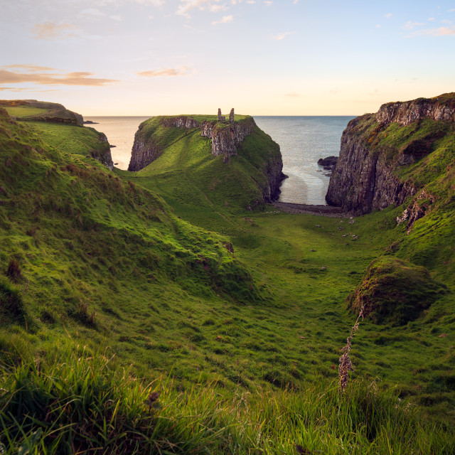 """""""A Portrait of Dunseverick"""" stock image"""