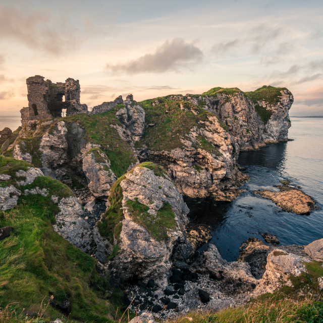 """Kinbane Castle and Headland"" stock image"