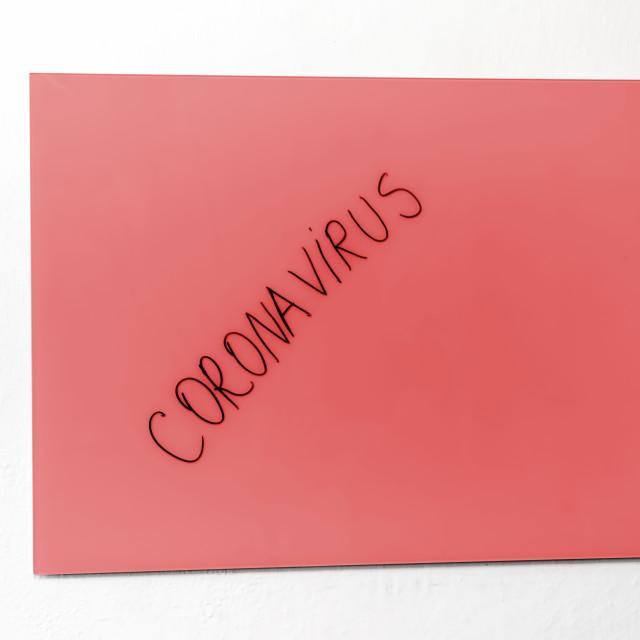 """""""Red Coronavirus alert"""" stock image"""