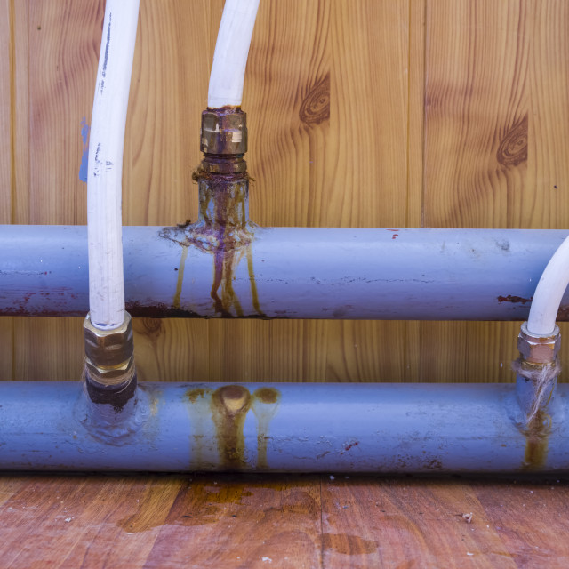 """""""Old rusted water pipes"""" stock image"""