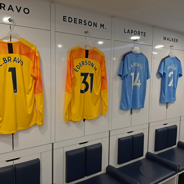"""""""Players changing room"""" stock image"""