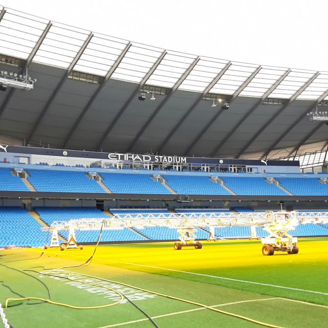 """""""Etihad Stadium in Manchester"""" stock image"""
