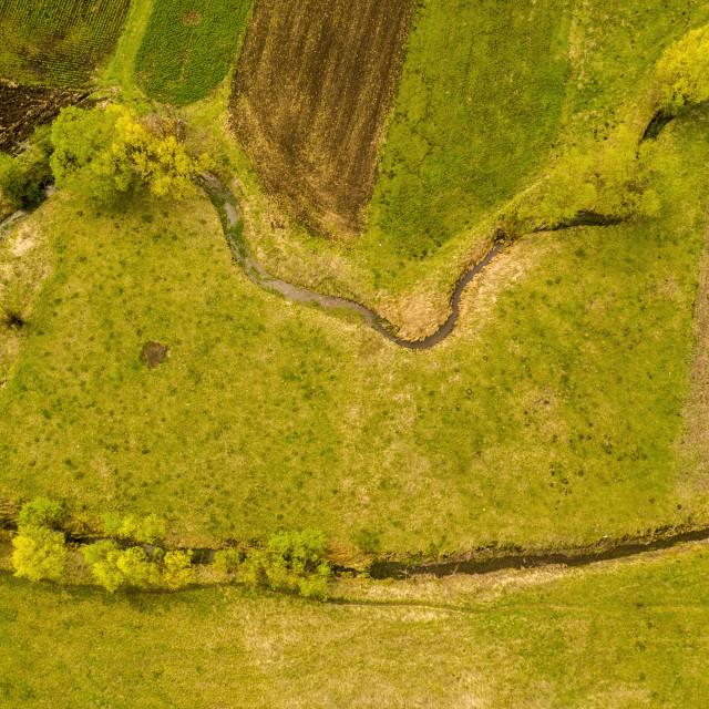 """""""Above view in rural scene"""" stock image"""