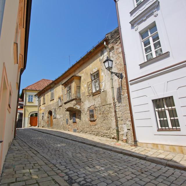 """""""Bratislava street in old town"""" stock image"""