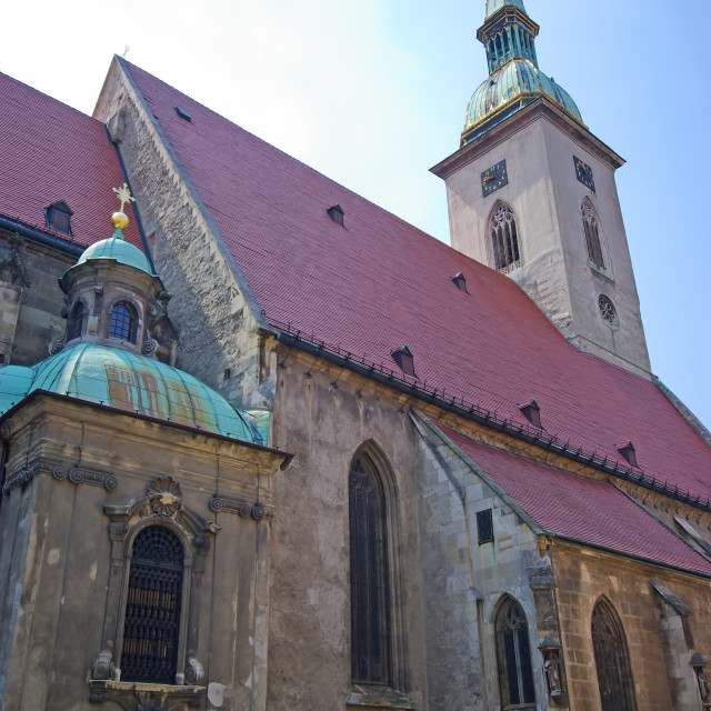 """""""Anient church in old town of Bratislava"""" stock image"""