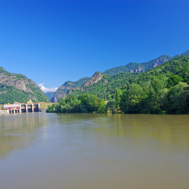"""""""Olt river and Cozia National Park"""" stock image"""