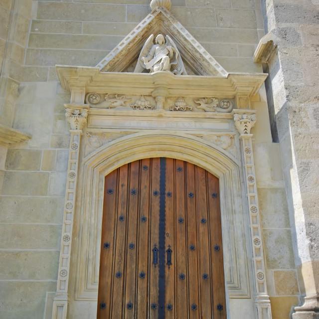 """Ancient church entrance"" stock image"
