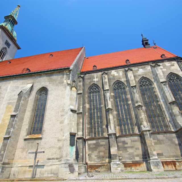 """""""Medieval Cathedral of Bratislava"""" stock image"""