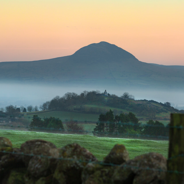 """""""Skerry and Slemish Sunset"""" stock image"""