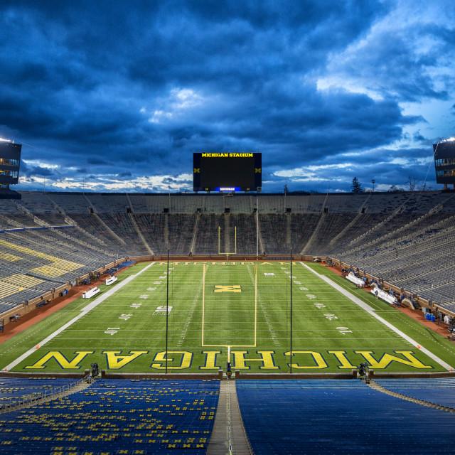 """University of Michigan Stadium - The Big House"" stock image"