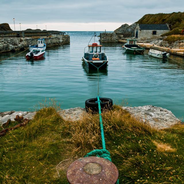 """Ballintoy Harbour"" stock image"