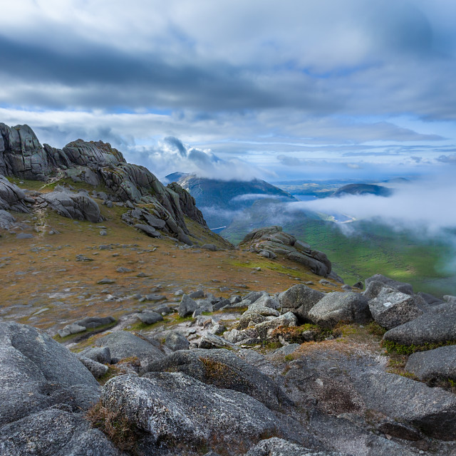 """""""Mournes in the Clouds"""" stock image"""