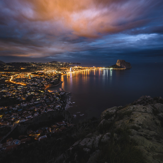 """Calp during blue hour"" stock image"