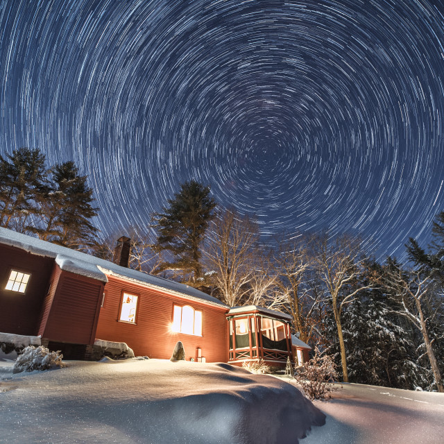 """""""Christmas Eve Star Trails"""" stock image"""