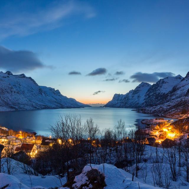 """Ersfjordbotn at Sunset"" stock image"