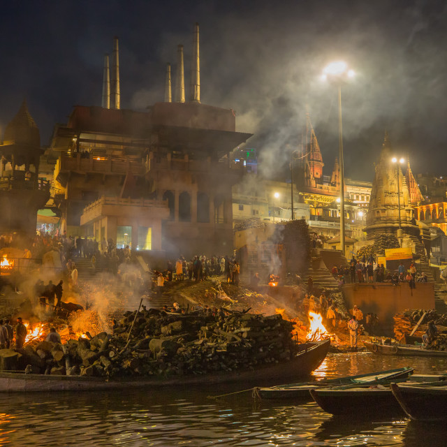 """""""Main Crematorium in Varanasi"""" stock image"""