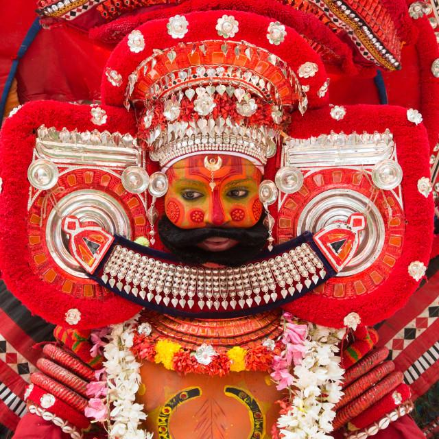 """Theyyam Performer in Kerala"" stock image"