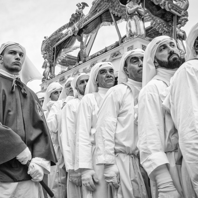 """Easter Procession in Enna, Sicily"" stock image"