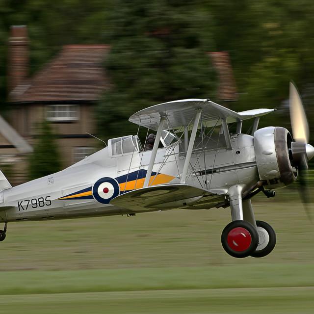 """""""1938 Gloster Gladiator Landing"""" stock image"""