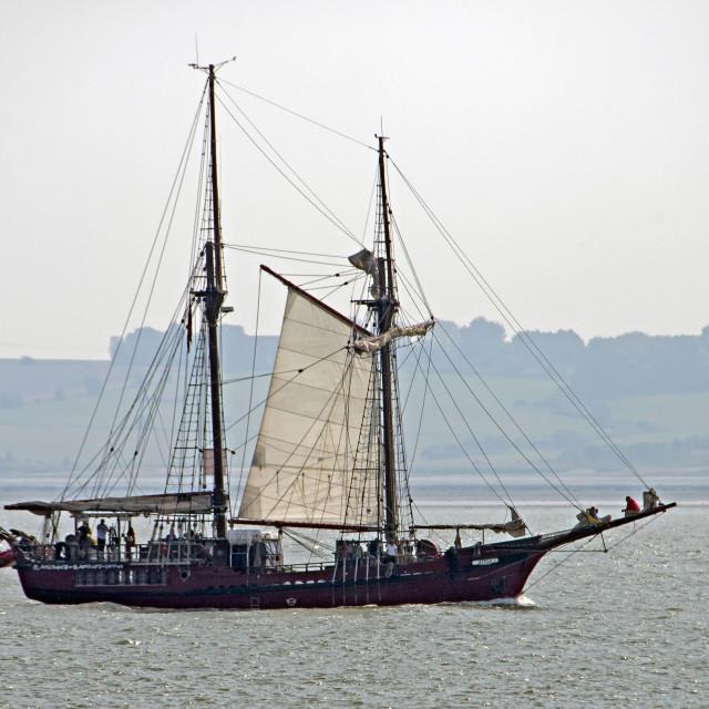"""""""Sailig Ship Atyla"""" stock image"""