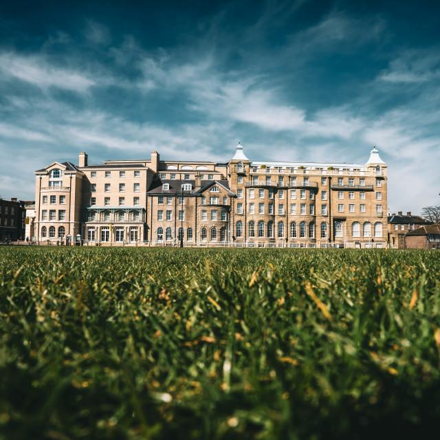 """""""University Arms Hotel, Cambridge UK."""" stock image"""