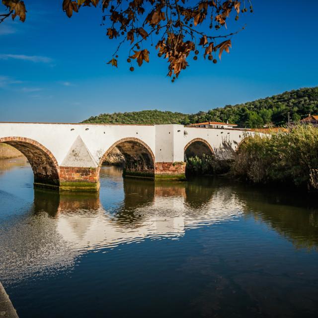 """Ancient Roman bridge over the River Arade"" stock image"