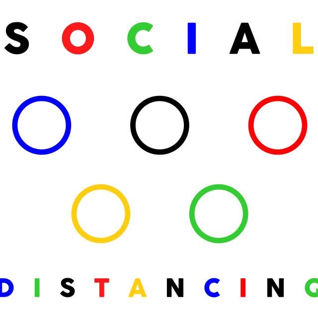 """social distancing illustration"" stock image"
