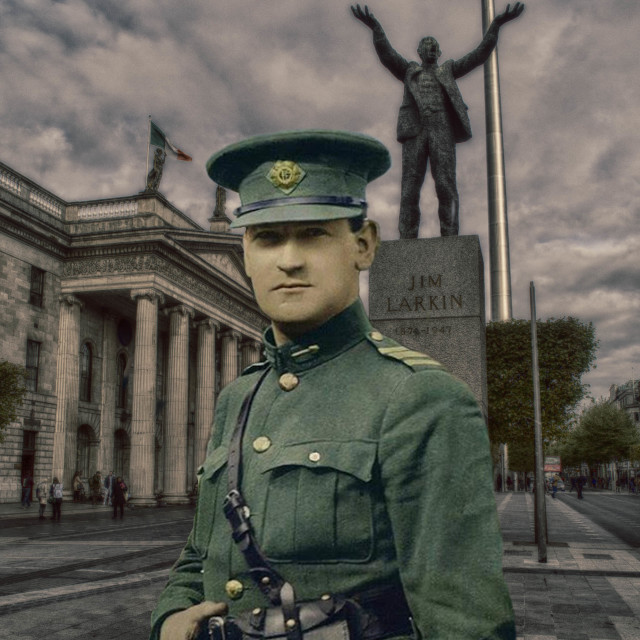 """Michael Collins At The GPO, Dublin."" stock image"