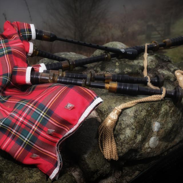 """Scottish Bagpipes"" stock image"