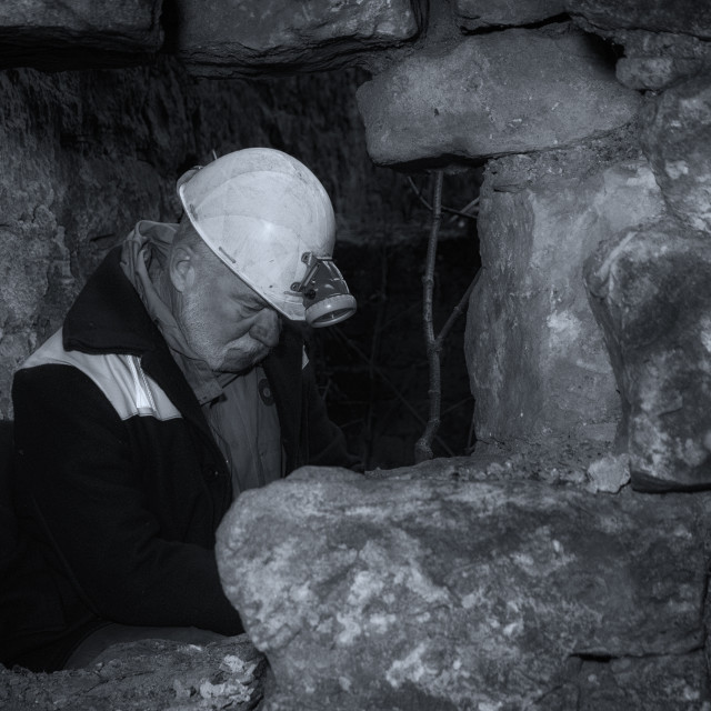 """The Miner"" stock image"