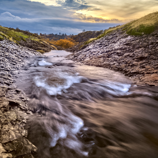 """Mountain Creek At Sunset"" stock image"