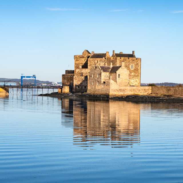 """Blackness Castle, Scotland"" stock image"
