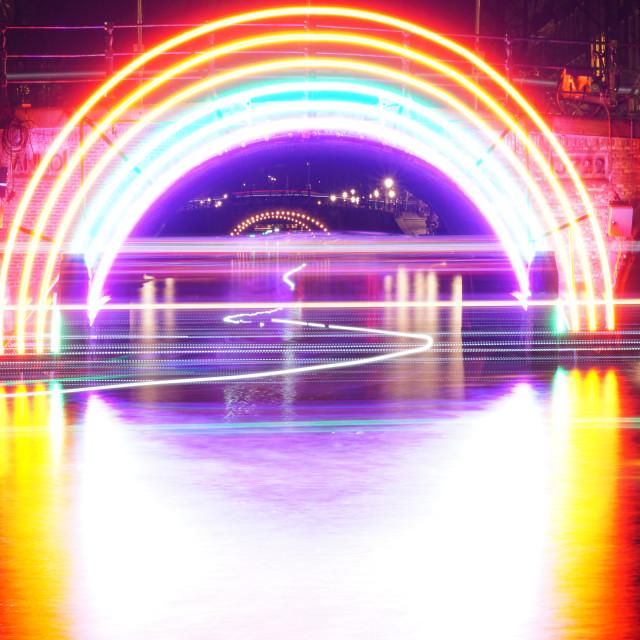 """Lights of Amsterdam"" stock image"