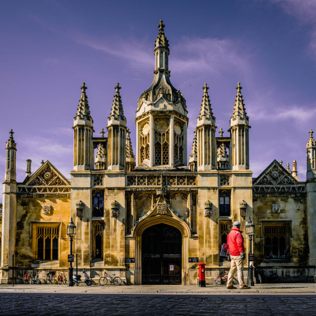 """King's College, Cambridge UK."" stock image"