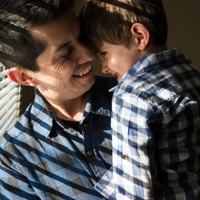 """""""Dad and son"""" stock image"""
