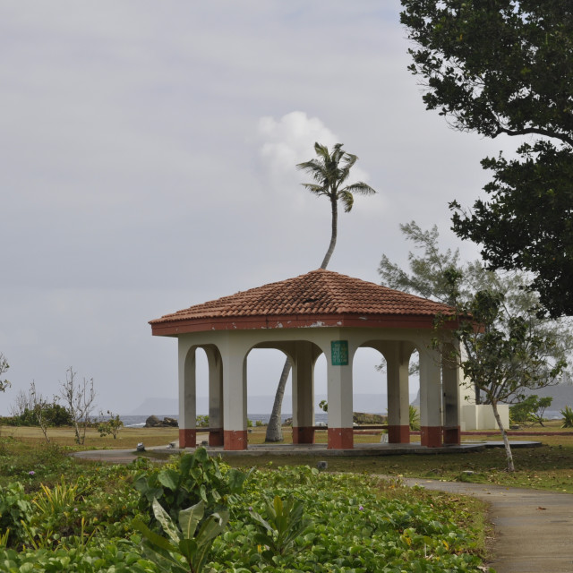 """Pavilion in Guam"" stock image"