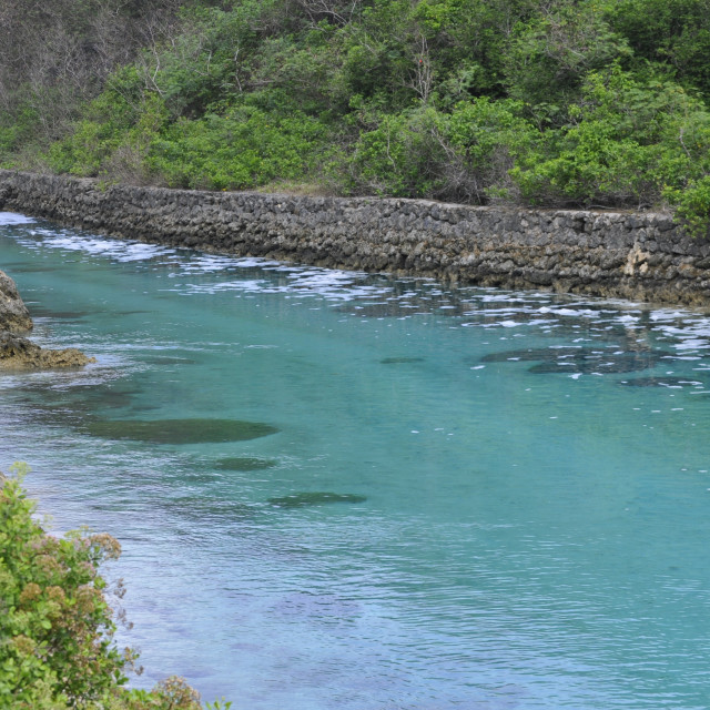 """Clear Canal in Guam"" stock image"