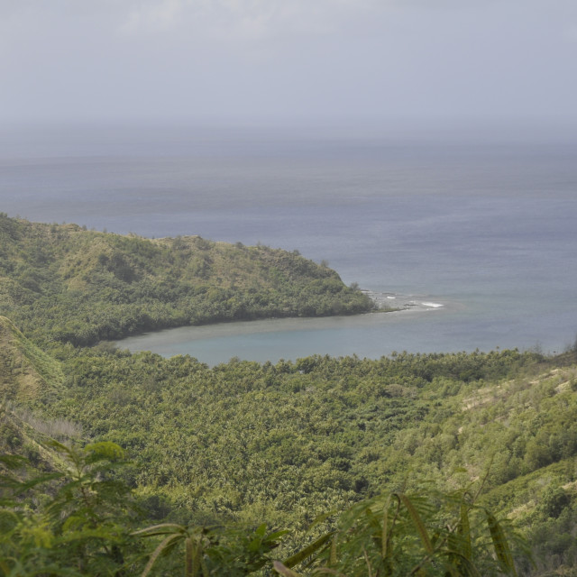 """""""Lookout in Guam"""" stock image"""