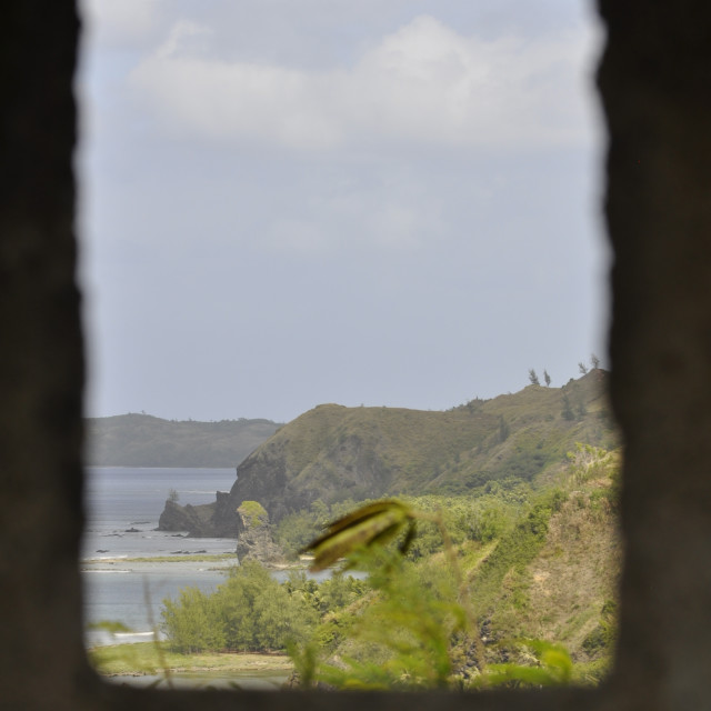 """""""Spanish lookout on Guam"""" stock image"""