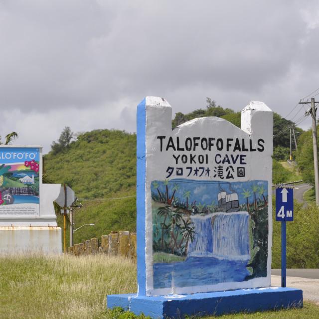"""Entrance to Talofofo Falls"" stock image"