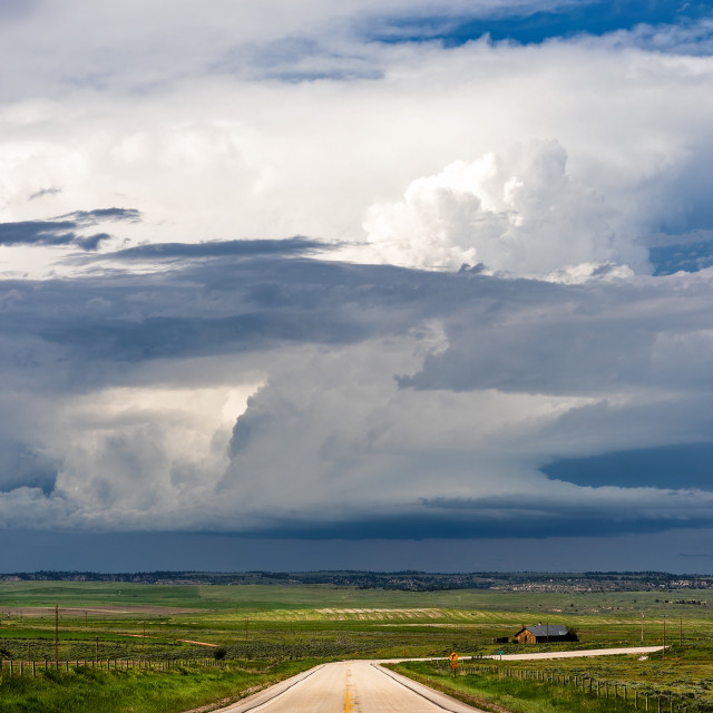 """Supercell thunderstorm"" stock image"