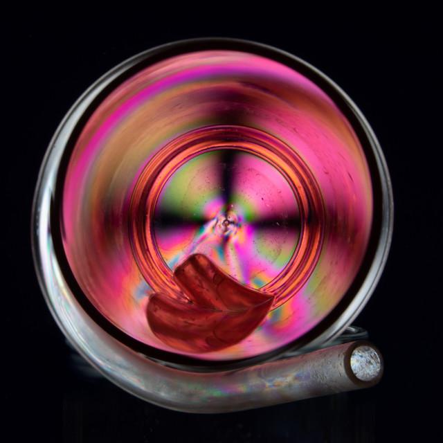 """""""Plastic Beaker illuminated by Polarized Light"""" stock image"""