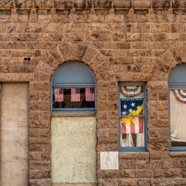"""Patriotic Wall in Arizona"" stock image"
