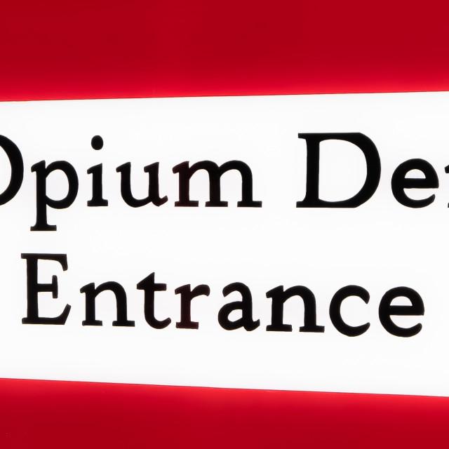 """""""Opium Den"""" stock image"""