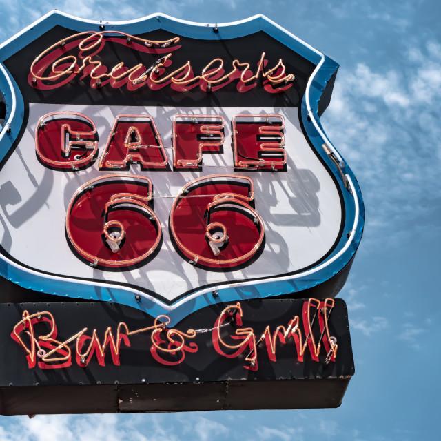 """""""Cafe 66"""" stock image"""