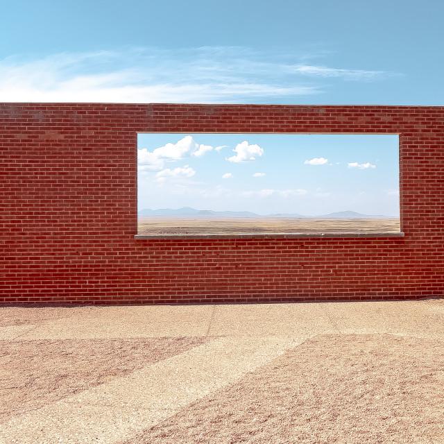 """""""Meteor Crater Window Display"""" stock image"""
