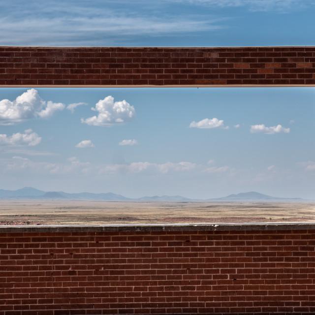 """""""Meteor Crater Window"""" stock image"""