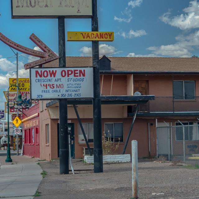 """""""New Mexico Street Scene"""" stock image"""