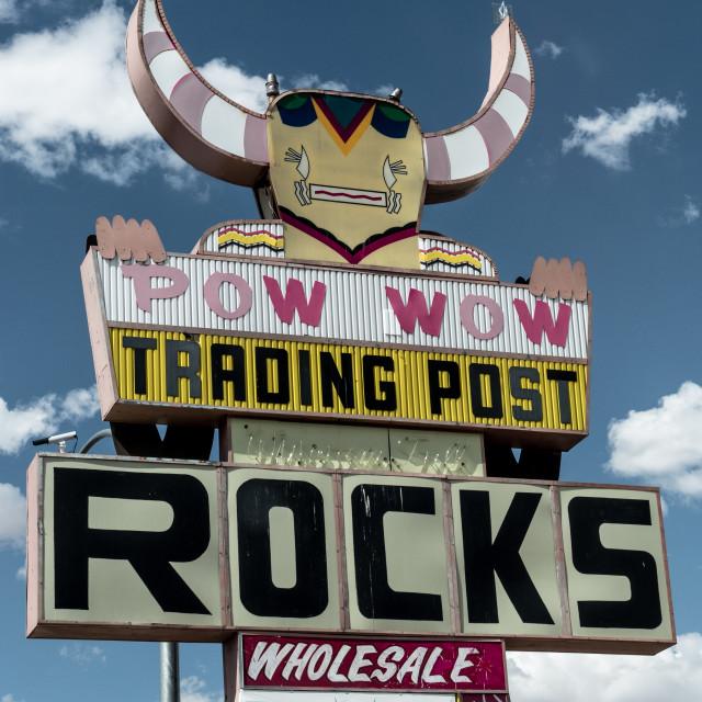 """""""Pow Wow Trading Pos"""" stock image"""