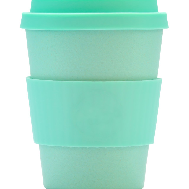 """""""Isolated Reusable Coffee Cup"""" stock image"""
